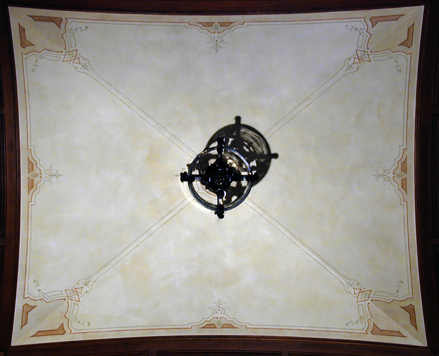 Greenwich CT - Vaulted library ceiling Fresco