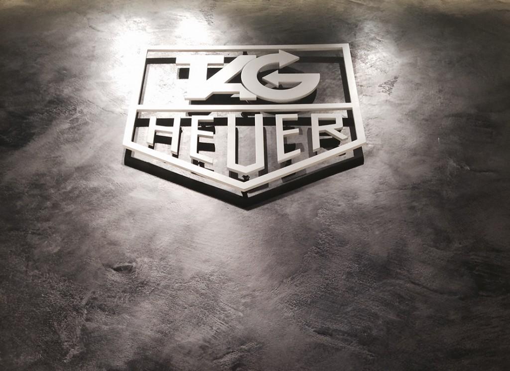 Tag Heuer Showroom - Gun metal burnished plaster