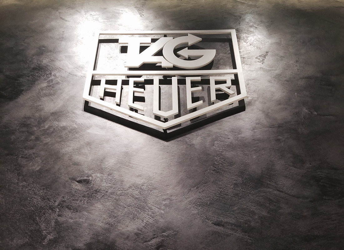 Tag Heuer Showroom - Gun Metal Burnished Plaster