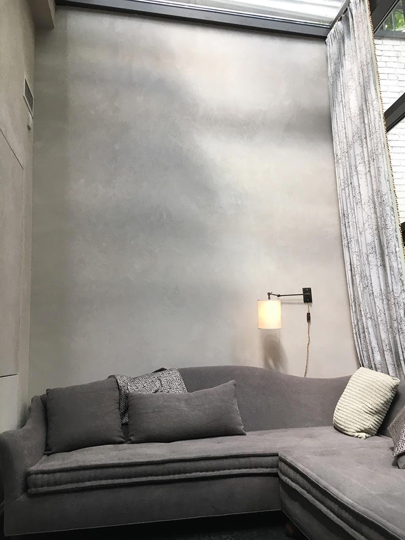 Park Ave Brownstone - Terra Grosso plastered walls